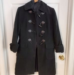 Long Gap pea coat with toggle buttons